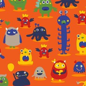 Mighty Monster - Orange - nicky velours