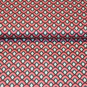 Cotton Satin Spandex - Seashell Red